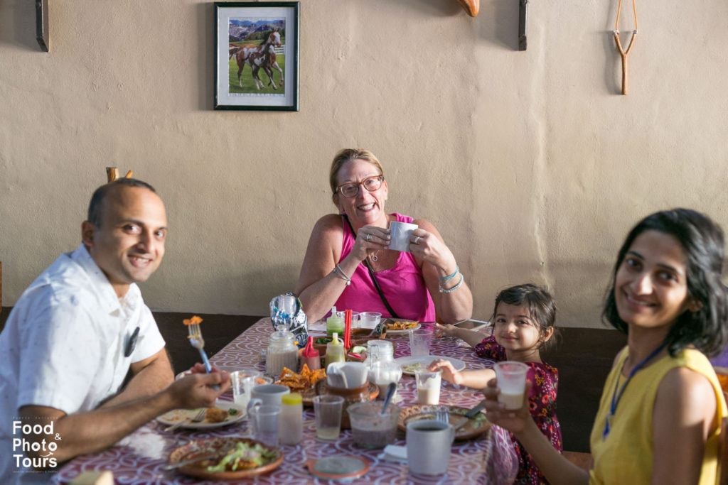 American tourists taking a Food Tour in Pitillal. Tour created by Food and Photo Tours in Puerto Vallarta.