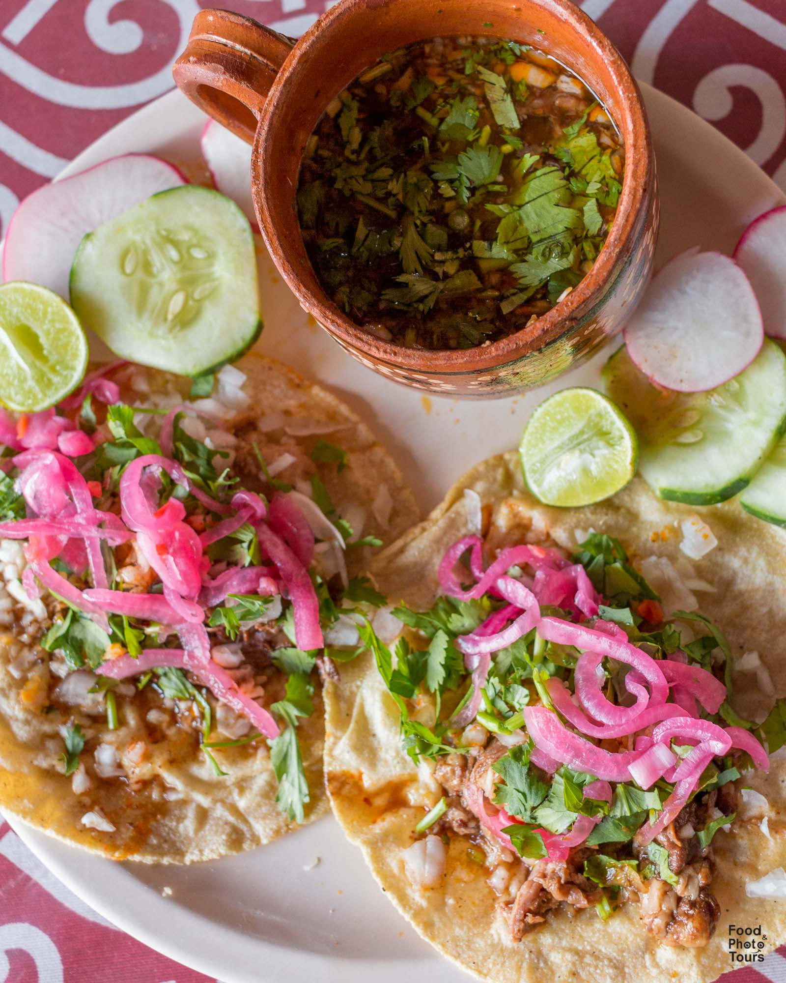 Tacos de Birria and Mexican comfort Food offered on a Food Tour in Pitillal in Puerto Vallarta by Vallarta Food Tours and Photo Tours with Star aka Estrellita Velasco