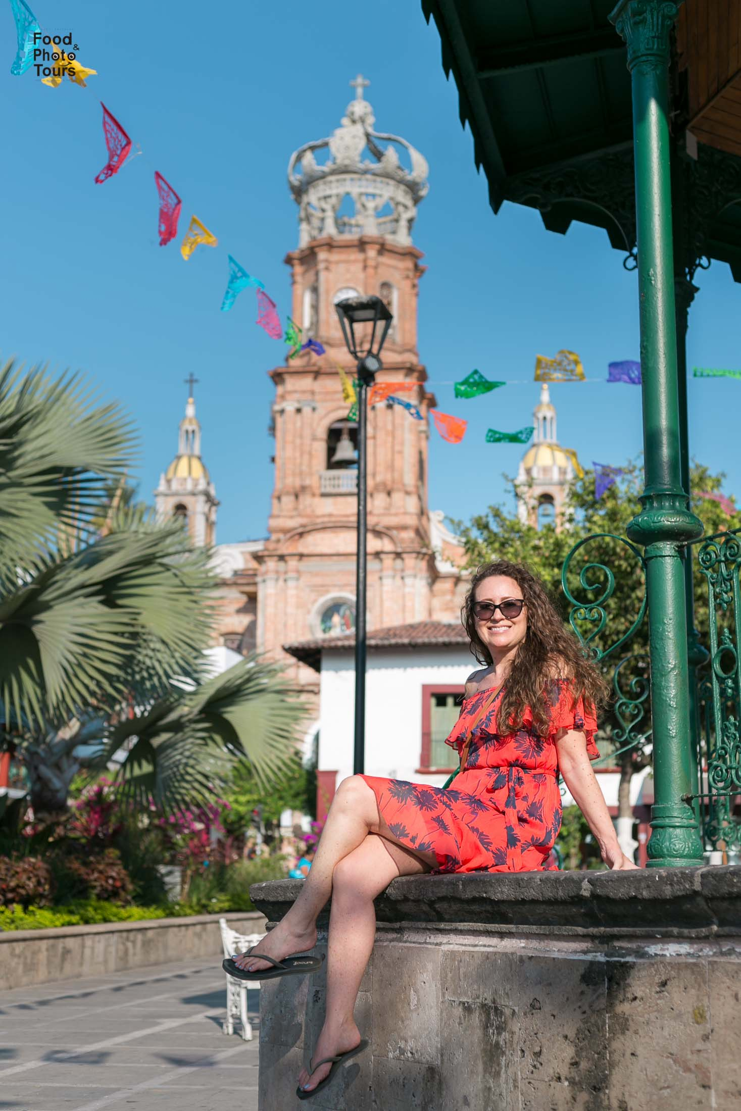 Female travel blogger and Solo Traveler in a Photo Shoot in Puerto Vallarta