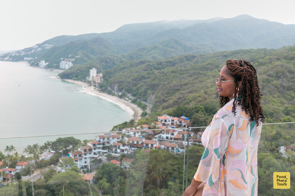 African American Female Solo Traveler in a private photo shoot at Musai Hotel in Puerto Vallarta