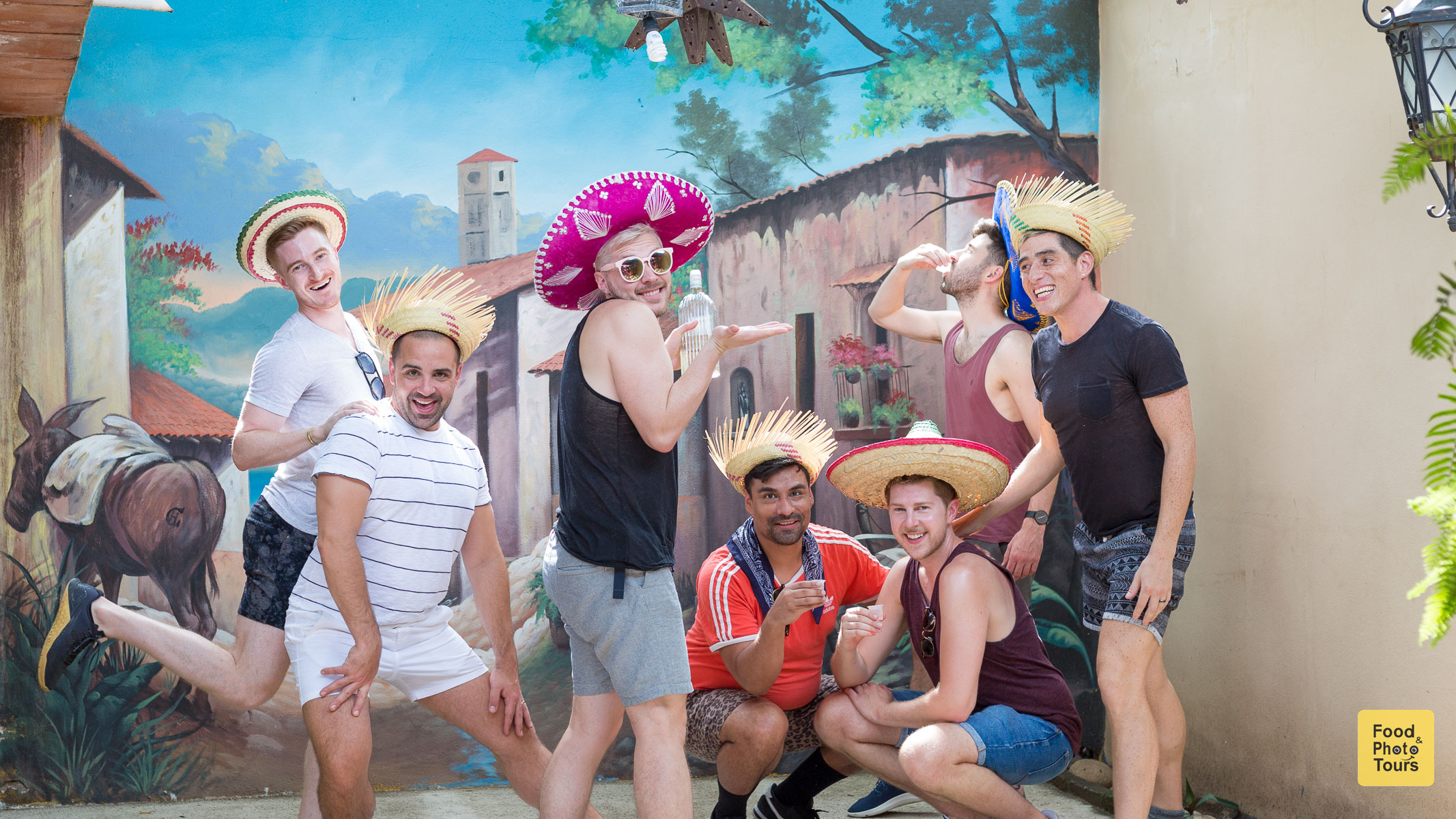 LGBT friends celebrating a birthday in Puerto Vallarta with a Food Tour and Tequila Tasting