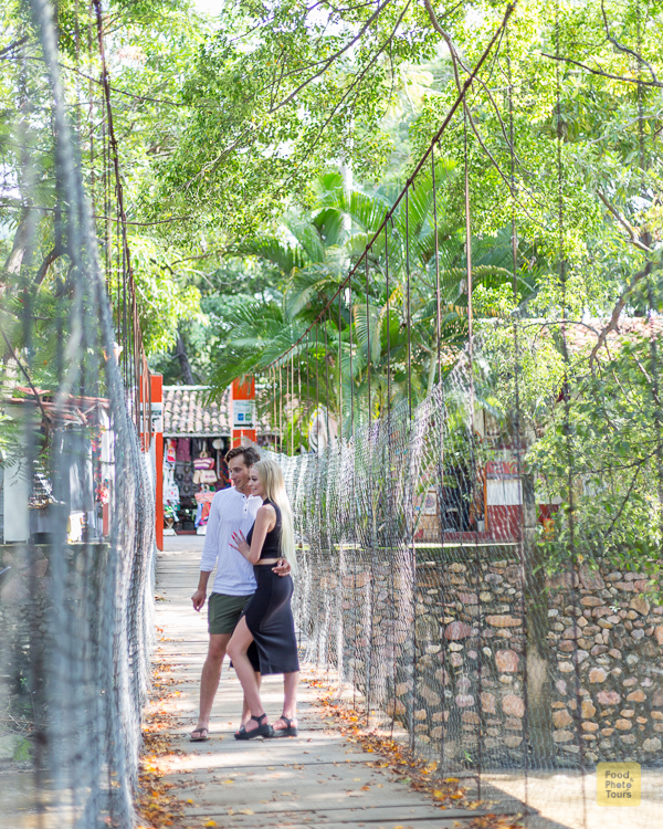 Engagement Photo Shoot in Puerto Vallarta + couple of young American millenials on a private photo shoot through Cuale Island in Puerto Vallarta